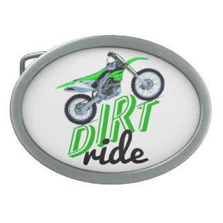 Dirt racer oval belt buckles
