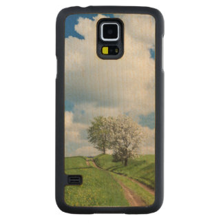 Dirt Road and Apple Trees Carved Maple Galaxy S5 Case