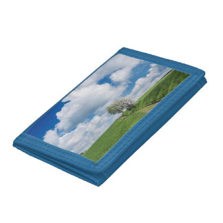 Dirt Road and Apple Trees Tri-fold Wallet