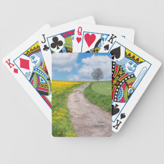 Dirt Road and Tree Bicycle Playing Cards