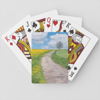 Dirt Road and Tree Playing Cards