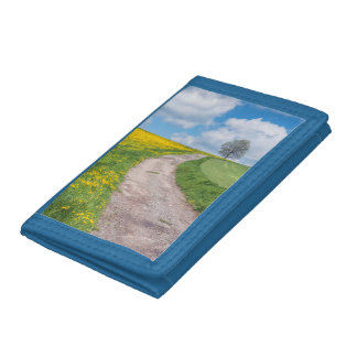 Dirt Road and Tree Trifold Wallet