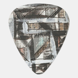 Dirt Road-Hand Painted Abstract Brushstrokes Plectrum