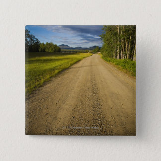Dirt Road in Eagle, Alaska 15 Cm Square Badge