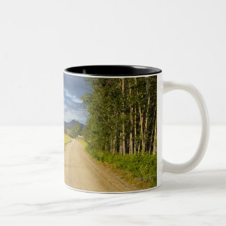 Dirt Road in Eagle, Alaska Two-Tone Coffee Mug