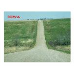 Dirt road - rural Iowa Post Card