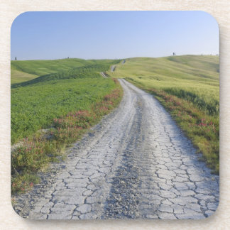 Dirt Road through Fields and Hills, Val d'Orcia, Coaster