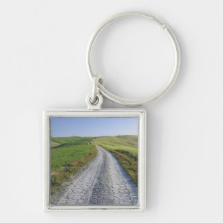 Dirt Road through Fields and Hills, Val d'Orcia, Key Ring