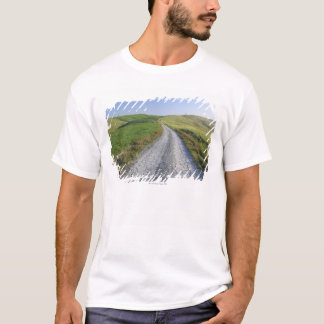 Dirt Road through Fields and Hills, Val d'Orcia, T-Shirt