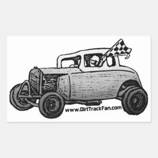 Dirt Track Race Winner Rectangular Sticker