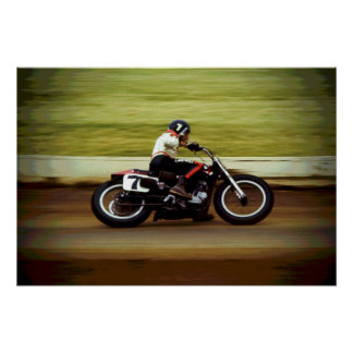 Dirt Track Racer - 25 x 17 Color Poster