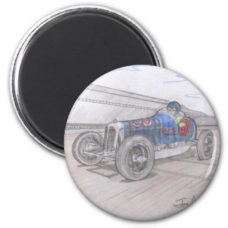 DIRT TRACK RACER magnet (round)