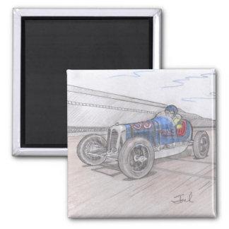 DIRT TRACK RACER magnet (square)