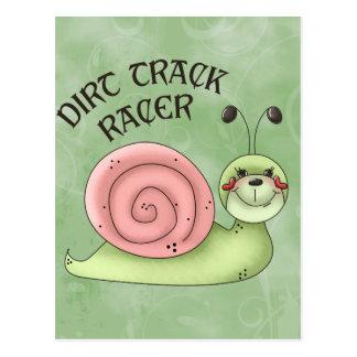 Dirt Track Racer Postcard