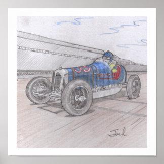 "DIRT TRACK RACER print (11""x11"")"