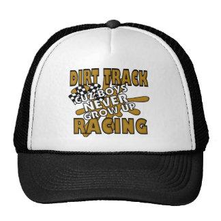 Dirt Track Racing Cuz Boys Never grow Up Mesh Hats