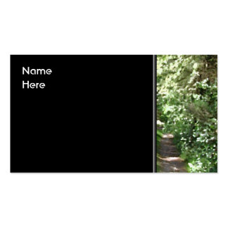 Dirt Track Through Trees. Double-Sided Standard Business Cards (Pack Of 100)