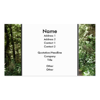 Dirt Track Through Trees. Business Card Templates