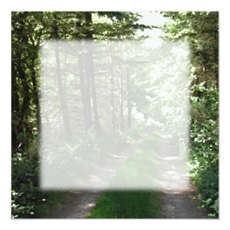Dirt Track Through Trees. 13 Cm X 13 Cm Square Invitation Card