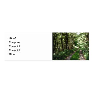 Dirt Track Through Trees. Pack Of Skinny Business Cards