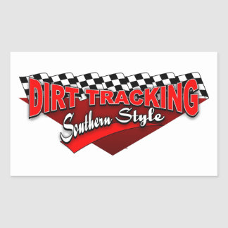 Dirt Tracking Southern Style Rectangular Sticker