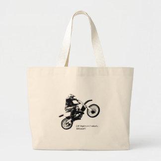 Dirtbike Large Tote Bag