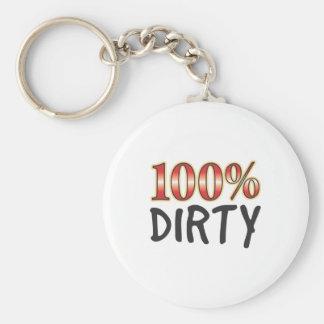 Dirty 100 Percent Key Chains