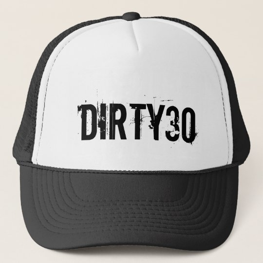 Dirty 30 hat for men's 30th Birthday party