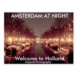 Dirty 3Tall Boxes Postcard - AMSTERDAM AT NIGHT