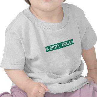 Dirty Ankle Road, Street Sign, North Carolina, US Tee Shirts
