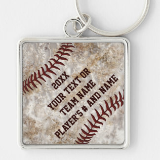Dirty Baseball Keychains Personalized YOUR TEXT