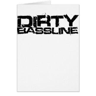 Dirty Bassline Dubstep Greeting Cards