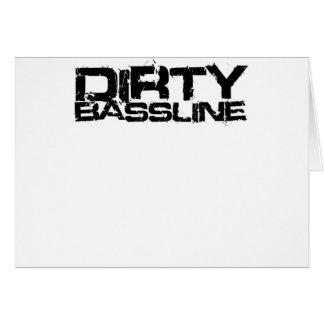 Dirty Bassline Dubstep Greeting Card