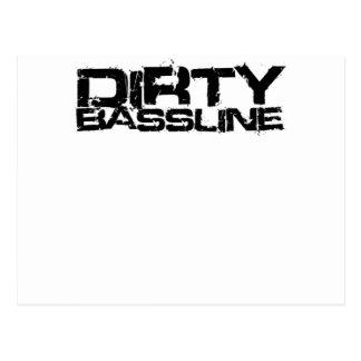 Dirty Bassline Dubstep Postcard
