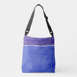 Dirty blue ripped paper crossbody bag