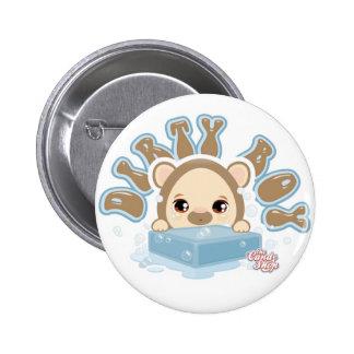 DIRTY BOY BEAR, CAndyshop Logo 6 Cm Round Badge