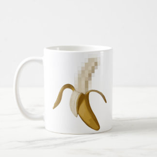 Dirty Censored Peeled Banana Coffee Mug