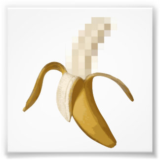 Dirty Censored Peeled Banana Photo Print