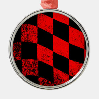 Dirty Chequered Flag Christmas Ornament