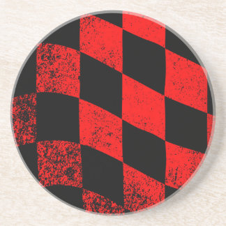 Dirty Chequered Flag Coaster