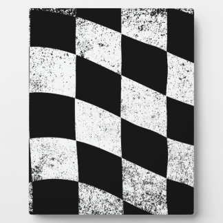 Dirty Chequered Flag Display Plaque