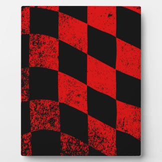 Dirty Chequered Flag Display Plaques