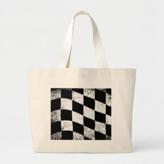 Dirty Chequered Flag Large Tote Bag