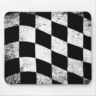 Dirty Chequered Flag Mouse Mat
