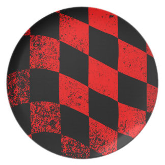 Dirty Chequered Flag Plate