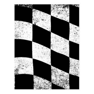 Dirty Chequered Flag Postcard