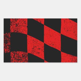 Dirty Chequered Flag Rectangular Sticker