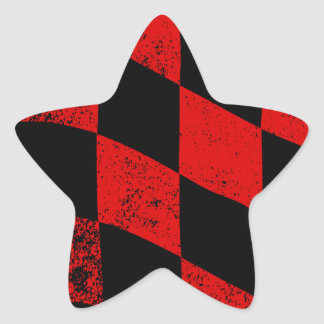 Dirty Chequered Flag Star Sticker