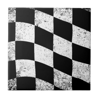 Dirty Chequered Flag Tile