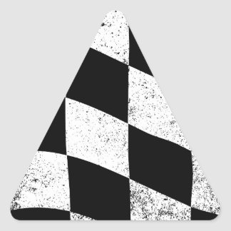 Dirty Chequered Flag Triangle Sticker